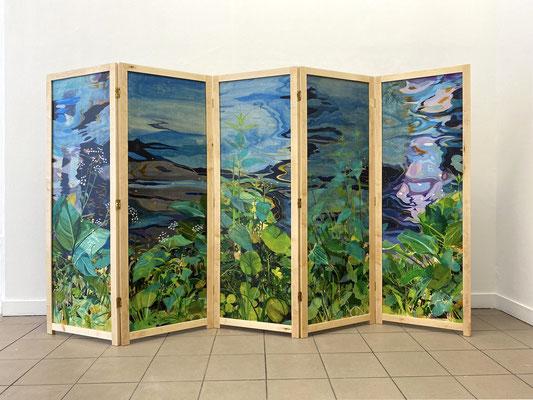 "Alke Brinkmann, ""Natura naturans / Terra"", 160x250 cm, Mischtechnik auf Holz, 2020"
