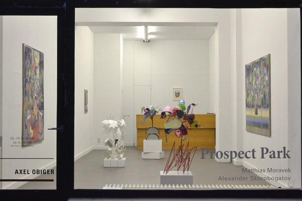 Prospect Park - Matthias Moravek I Alexander Skorobogatov . Ausstellungsansicht . Axel Obiger Berlin