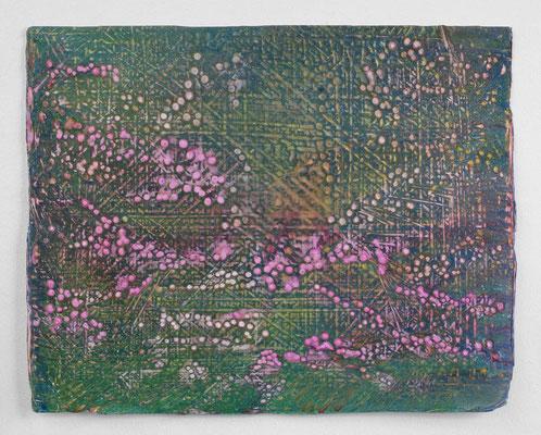 Enrico Niemann, Digit, 2019, Mischtechnik mit Acrylfarbe + Papier, 33 x 41 cm