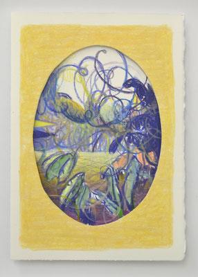 "Matthias Moravek ""Arabesque III"", Kreide auf Arches-Papier, 30x20 cm, 2021"