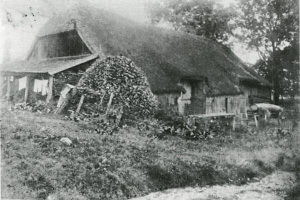 Zehentstadl im Jahr 1907. An dem Standort befindet sich der heutige Hofladen