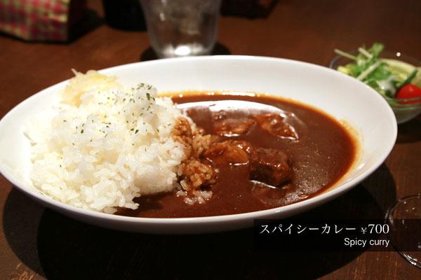 ランチ スパイシーカレー Spicy curry 700yen