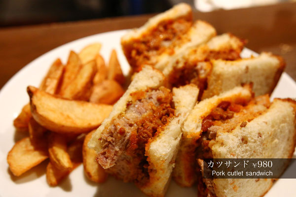 カツサンド Pork cutlet sandwich