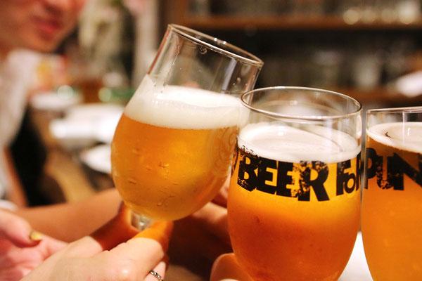 ご予算に応じてビールの種類をお選びいただけます