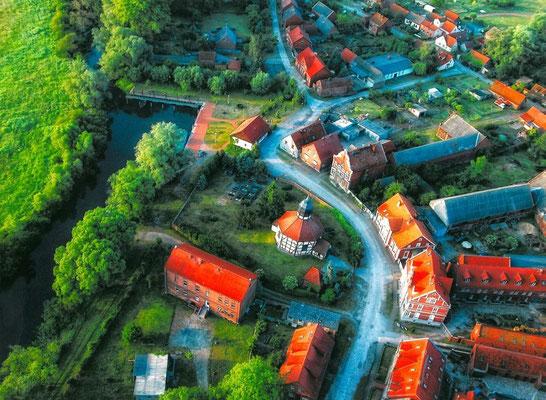 Garz - Luftbild vom Oberdorf