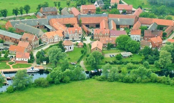 Garz - Luftbild Vierseitenhöfe