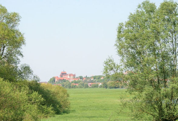 Blick auf die Hansestadt Havelberg