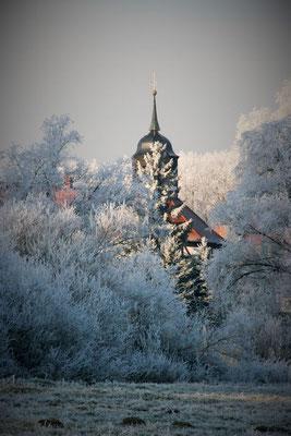 Garz - Kirche im Winter
