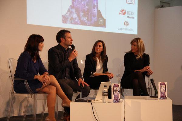 Presentación del libro Knowmads en el IED, con Margarita Álvarez y Nuria Coronado