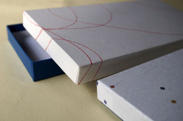 新商品のための貼箱は貼り紙を変えるで御社仕様のオリジナルパッケージになります