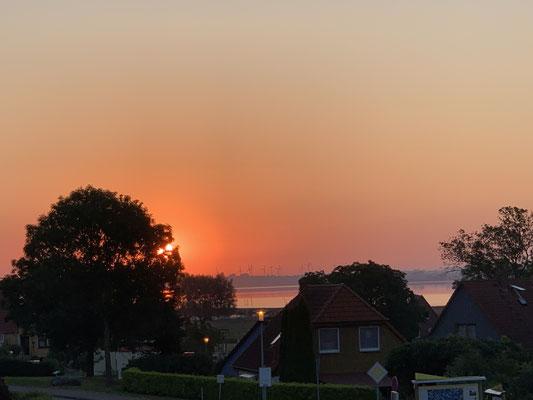 Sonnenuntergang in Salem von unserer Wohnung aus betrachtet