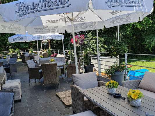 Gemütliche Terrasse im Haus Seeblick