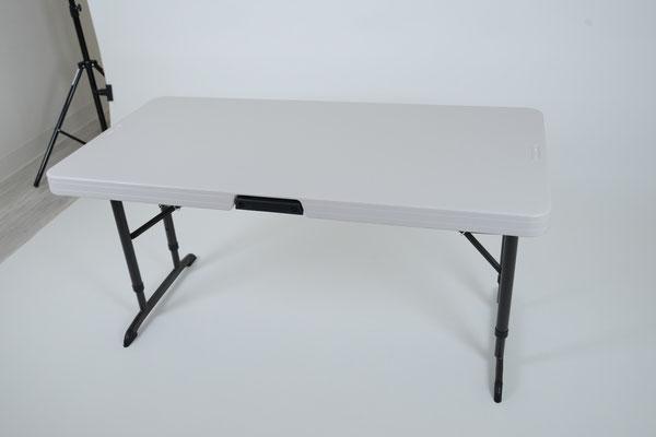 撮影台・多目的台(120cm×60cm 高さ調節可能)