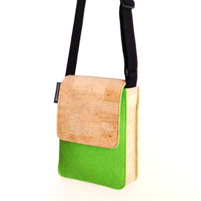 Heinerbag S, Tasche aus Kork und Wollfilz