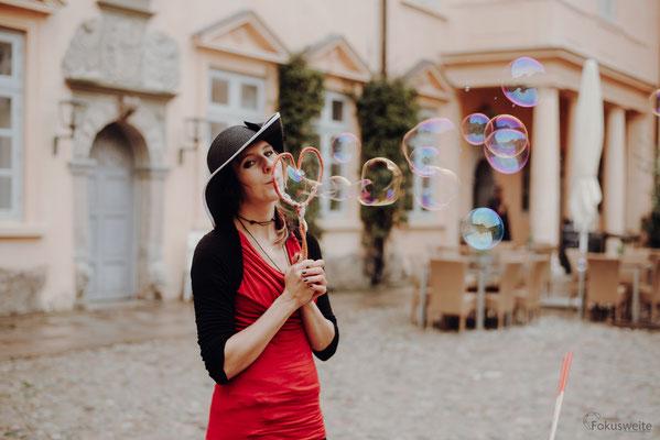 Seifenblasen-Liebe für Hochzeiten, Foto: Fokusweite