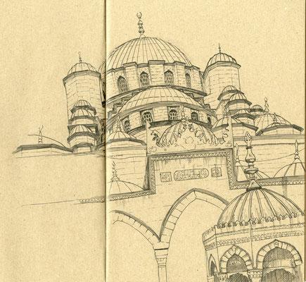 Hagia Sophia, Filzstift auf Papier