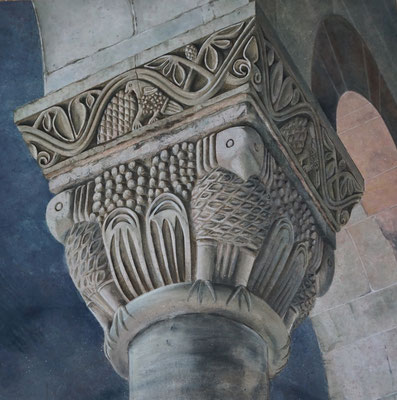 Romanisches Kapitell Quedlinburg, 2,30 x 2,30 m