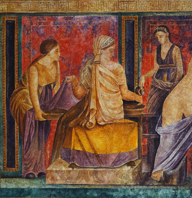 Pompejanische Fresko-Imitation auf Leinen /// Pompaien Fresco Imitation on Linen