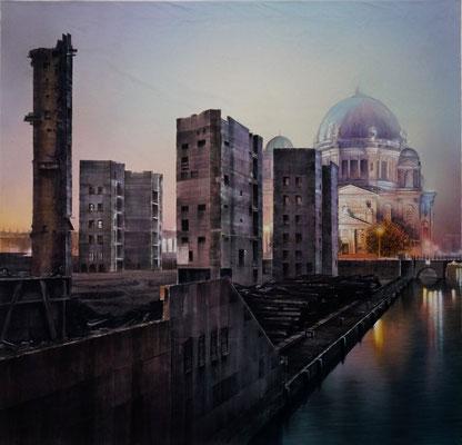 Abriss vom Palast der Republik in Berlin (3,20x3,00m) /// Demolition of Berlin's Palace of the Republic