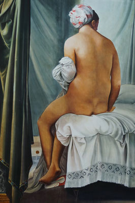 """Kopie von Ingres """"Die Badende von Valpincon"""", 2m x 3,10m (Dispersion auf Leinen)"""