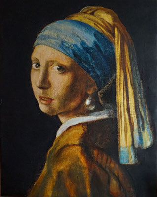 Kopie Vermeer auf Leinen /// Copy Vermeer on Linen