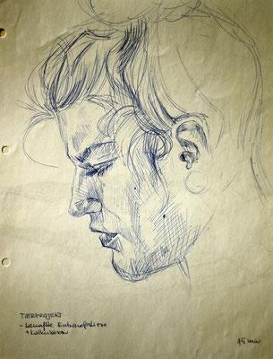 Sarah - Kugelschreiber auf Papier (A4)