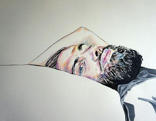 Eric - Filzstift und Buntstift auf Papier (A2)