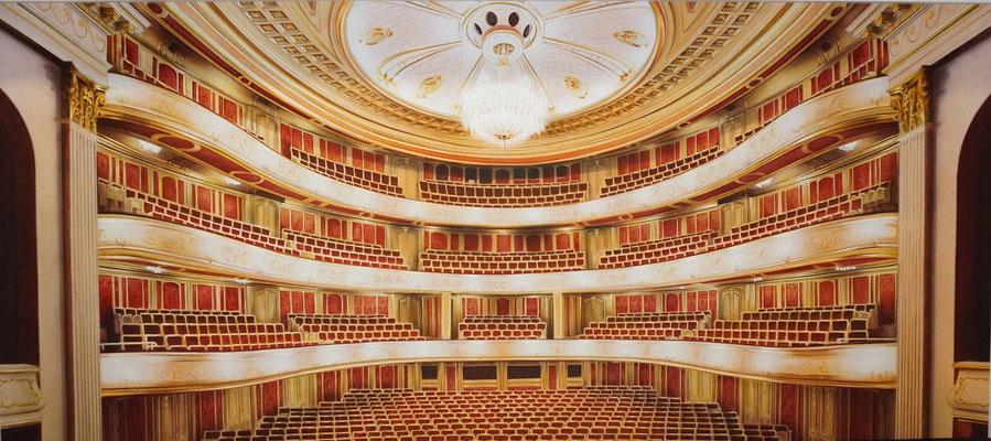 Zuschauerraum der Berliner Staatsoper, 5,80 x 2,60 m (in Zusammenarbeit mit Jana Weitbrecht)