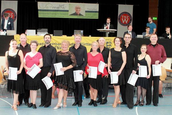 Tobias und Sandra Rackebrandt; Platz 1, Sen. IID Latein