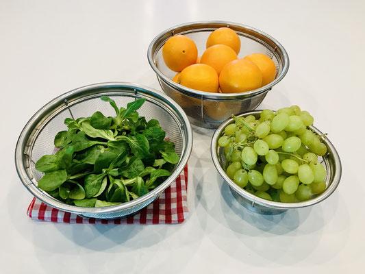 Nutzbar für Obst, Salat abspülen, Nudeln abgiessen und vieles mehr... Spülmaschinen geeignet da komplett aus Edelstahl - Siebe PC