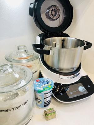 Heute backe ich das erste Mal ein Brot in meiner Bosch® Cookit® Küchenmaschine.....