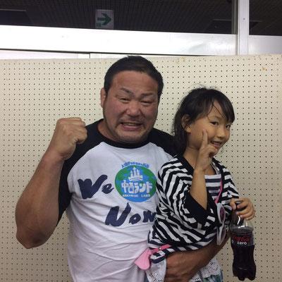 新日本プロレス永田選手との写真