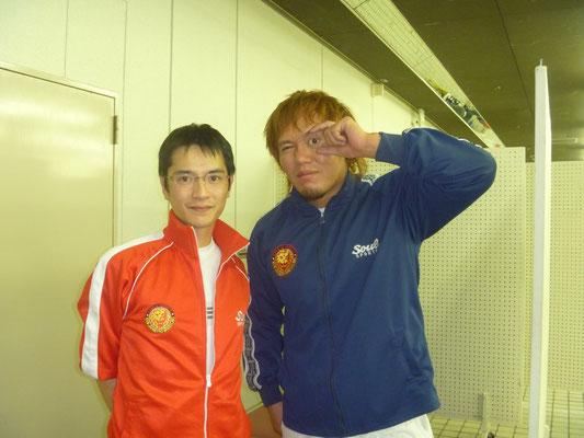 新日本プロレス内藤選手との写真
