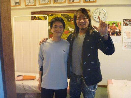 新日本プロレス棚橋選手との写真