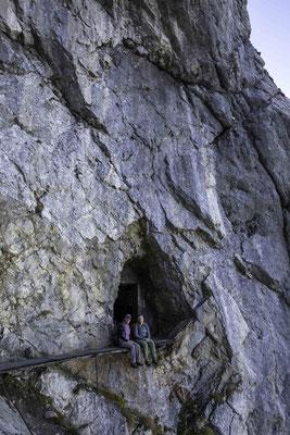 Der Eingang in die Festung am Sigriswilergrat