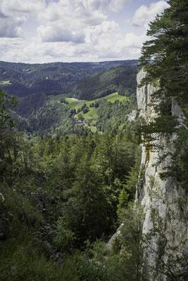Blick vom Chateau de Cugny ins Doubstal