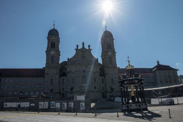 Des Kloster Einsiedeln mit der Klosterkirche