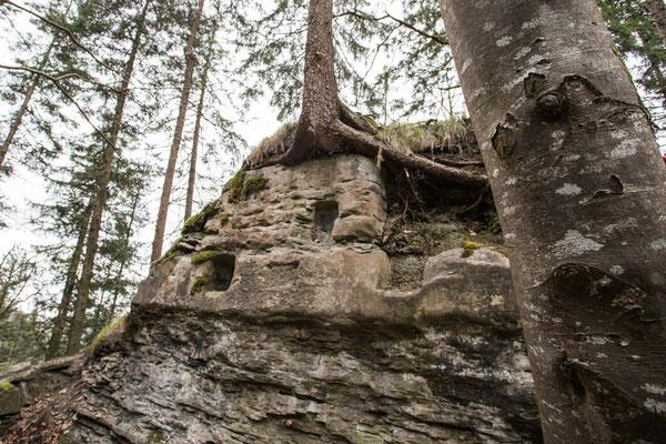 Der sogenannte Druidenaltar im Schlosschälen von Hinterfultigen