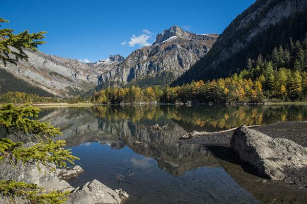 Der Lac de Derborence entstand im jahre 1749 durch einen Bergsturz. Er ist der jüngste natürliche Bergsee in den Schweizer Alpen.
