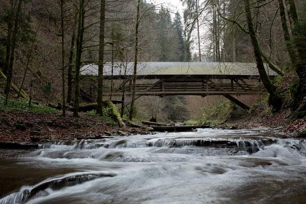 Der weg führt uns über die Bütschelbachbrücke, um wieder an den Schluchtrand hinaufzusteigen