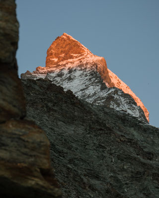 Morgenstimmung am Fuss des Matterhorns