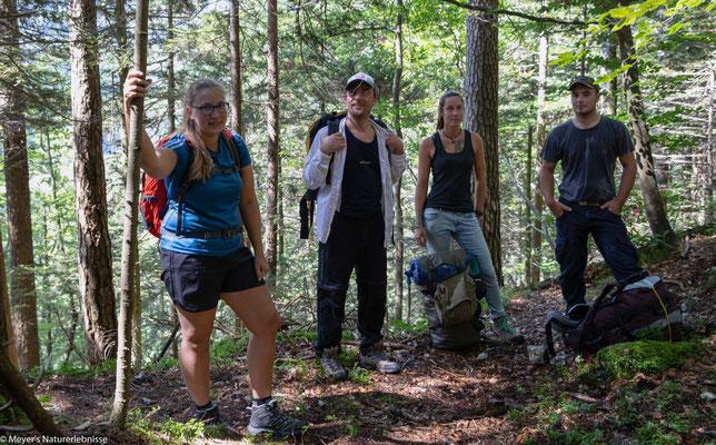 Meine Gäste waren gespannt auf das Abenteuer Waldschlucht