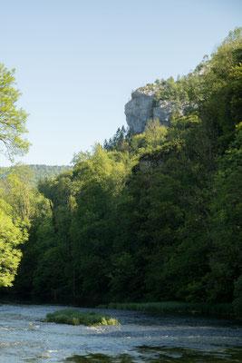 Le Longue Roche oder der Affenfelsen von Goumois