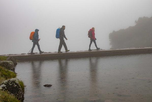 Regenwanderung beim Murgsee