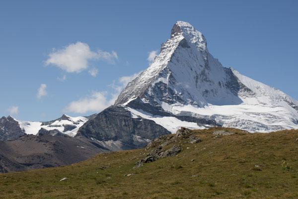 Das Matterhorn zeigte sich uns von seiner schönsten Seite