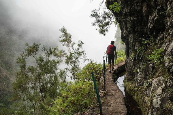 Mystische Stimmung entlang der Levadado Caldeirao Verde.
