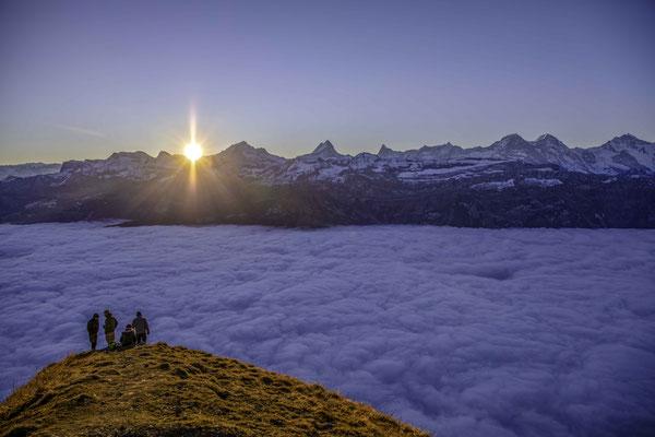 Sonnenaufgang auf dem Augstmatthorn