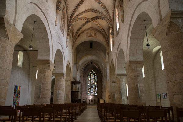 In der Abteikirche von Romainmôtier herrscht eine wohltuende Stille