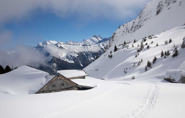 Die Alp Suls im Hochwinter