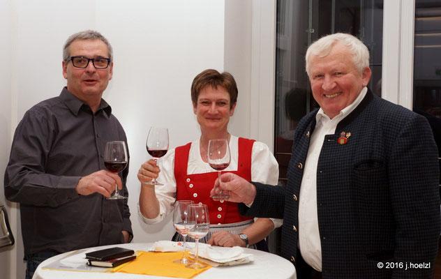 Franz Rathwallner, Andrea Scheiterbauer und Ing. Josef Dopler (re)